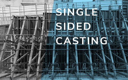 Single-sided casting